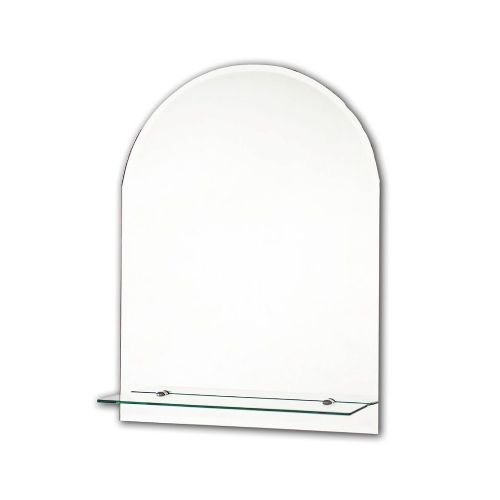 Bevelled Arch En-Suite Mirror With Shelf 400mm x 600mm